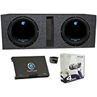 2) PLANET AUDIO AC10D 10 3000W Subwoofers + Vented Box + 2 Channel Amp +Amp Kit