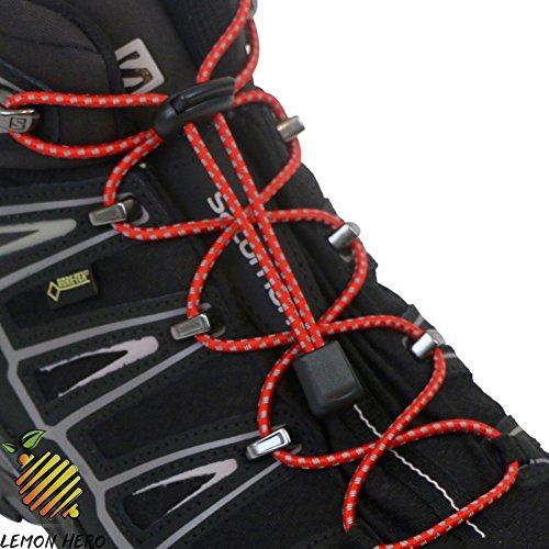 No Tie Shoelaces by Lemon Hero - Best Reflective Colors. Our Elastic Stretchy Locking Shoe Laces Fit Shoes and Booots ()