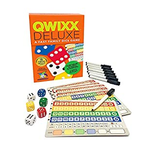 Gamewright Qwixx Deluxe - Fast Family Dice Game