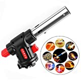 Portable Gas Torch Burner Blow, Outdoor Lighter for BBQ Flamethrower Burner for Cooking 15 * 6.5 * 4cm