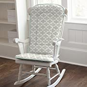 Carousel Designs French Gray and Mint Quatrefoil Rocking Chair Pad