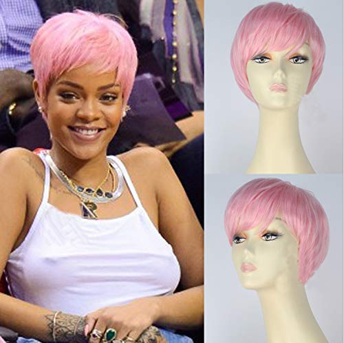 Rihanna Black Wig - IVY HAIR Rihanna Cosplay Wigs Short