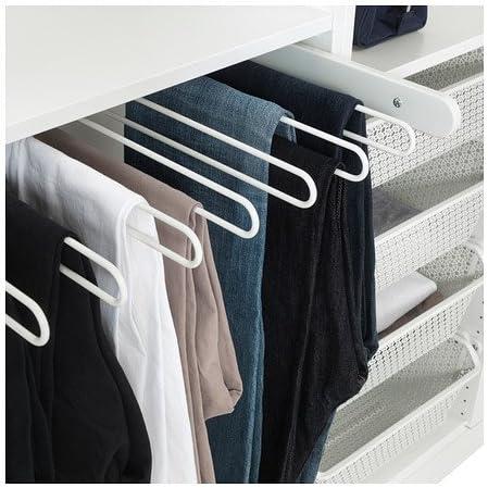 Ikea Komplement Pull Out Percha Para Pantalones Blanco 75x35 Cm Amazon Es Hogar