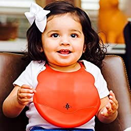 BABY SILICONE BIBS - PACK OF 4 Baby Bibs! BEST Gift for Boy & for Girl, Baby and Toddlers, Baby Shower Gifts - Bib Silicone 100% Food Safe Material, BPA Free, Dishwasher Safe - Rainbow Colors Bibs