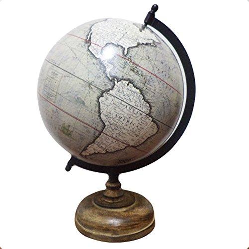 Office Stationary Desktop Globe Geography Political World Grey Globe Table Decor - World Jewel Globe