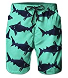 Belovecol Mens Swim Trunks Animal Graphic Novelty Cool Board Shorts M
