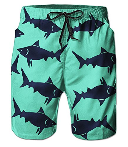 Belovecol Men's Swimming Trunks 3D Print Colorful Swim Trunks Summer Casual Swimsuits L