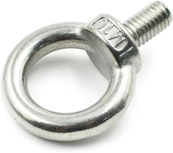 TUOREN M12X20 Stainless Steel Male Thread Lifting Ring Eye Bolt 2pcs