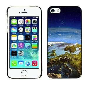 PC/Aluminum Funda Carcasa protectora para Apple Iphone 5 / 5S Earth Panorama Landscape View Space Europe / JUSTGO PHONE PROTECTOR