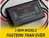 Stop-Alert FastFlash 60 Watts Brake Flasher Tail and Stop Light Strobe 50X Faster SUPER POWERFUL Fastest Preprogrammed 3-Pattern Sequence - LEDs & INCANDESCENT BULBs for Cars, Trucks, Motorcycles - 5A