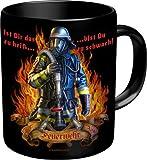 Feuerwehr Ist dir zu heiß - Spruch Tasse - Keramik Tasse in Geschenkbox - Grösse Ø8,5 H9,5cm