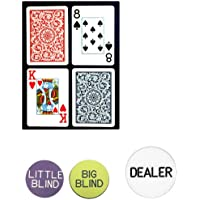 Trademark Poker Copagt Bridge Size Plastic Playing Cards and Dealer Kit