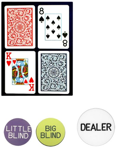 Trademark Poker Copagt Bridge Size Plastic Playing Cards and Dealer Kit by Trademark Poker
