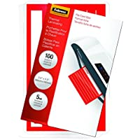 Fellowes Laminating Pouches, Thermal, File Card, 5 Mil, 100 Pack (52017)