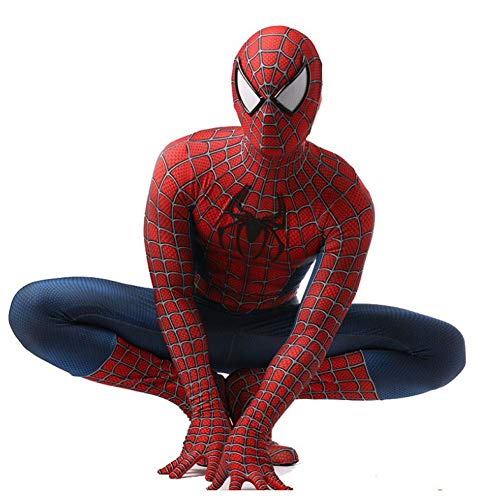 QXMEI Halloween Spider-Man Cosplya Siamese Clothes Adult Child Role Performance Costume,Adult-M ()