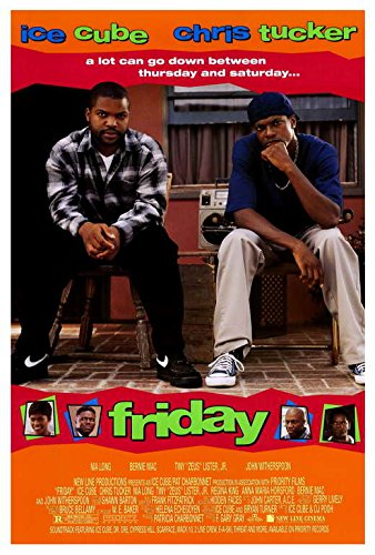 Friday Movie Poster, Ice Cube, Chris Tucker, A Made In The U.S.A