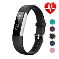 LETSCOM Fitness Tracker with Heart Rate Monitor, Smart Activity Tracker Watch, Pedometer Watch with Step Counter and Sleep Monitor, Calorie Counter for Kids Women Men
