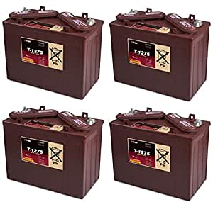 replacement for t1275 4 pack trojan battery t 1275 12v 150ah 12 volt deep cycle flooded battery. Black Bedroom Furniture Sets. Home Design Ideas