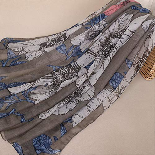 Printed breathable scarf Bali yarn scarf Chinese flower scarf C 180x85cm ()
