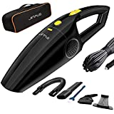 JINPUS Car Vacuum Cleaner High Power Car Vacuums 12V 120W for Car, Wet/Dry Corded Portable Vacuum for Car, Handheld Vacuum Cleaners (Black) Larger Image