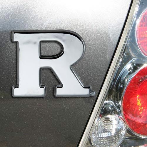 NCAA Rutgers Scarlet Knights Chrome Auto Emblem by Elektroplate