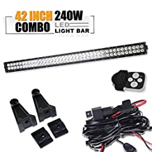 Turbo 240W 42 inch Flood And Spot Combo Beam Led Work Off Road Driving Light Bar For Off-Road Suv Car Boat 4X4 Jeep Lamp 4Wd Track Jeep Wrangler WITH WIRING HARNESS