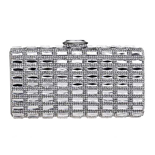 Silver D'embrayage Clutch Cristal Sac Fête Prom Coloré Soirée Femme Main Bourse Pochette Mariage De Diamant Sac à awgCq