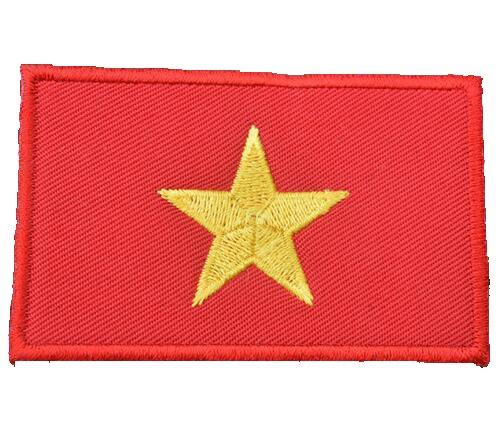 (ShowPlus Vietnam VN Flag Military Embroidered Tactical Patch Morale Shoulder)