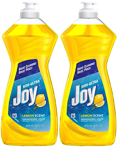 - Joy Non-Ultra Dishwashing Liquid, Lemon Scent, 14 Ounce, Pack of 2, 28 Oz Total