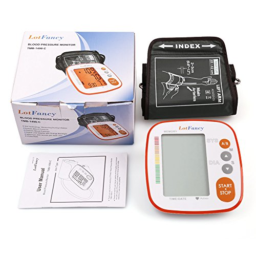 Blood Pressure Monitor by LotFancy, Automatic Upper Arm BP Cuff, 2-User Mode, 8.6 to 12.6 Inches, FDA Approved by LotFancy (Image #6)
