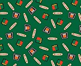 Oliver Tractor Logo Cotton Fabric, Green