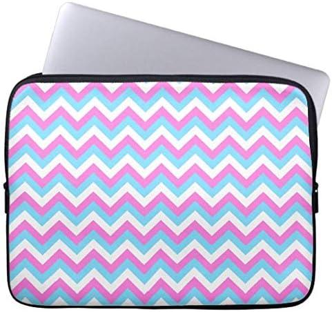 Neoprene Laptop Sleeve Case Cover Pink and Blue Chevron Zig Zag Stripes 12 13 17 Laptop Sleeve 10 Computer Sleeve 15