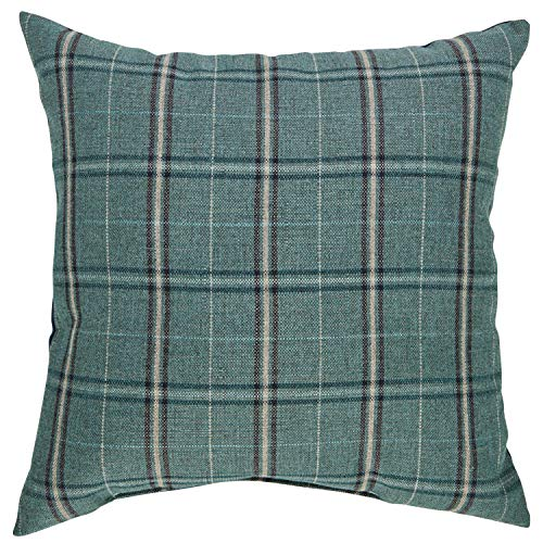 Stone Beam Classic Outdoor Plaid Throw Pillow – 20 x 20 Inch, Lagoon