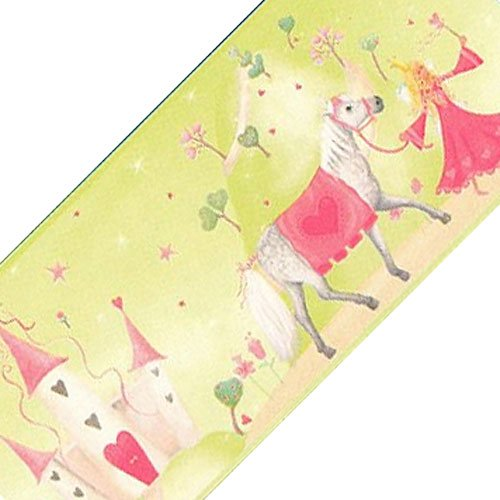Sure Strip Green Fairy Princess Castle Prepasted Wallpaper Border Roll
