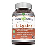 #10: Amazing Nutrition Amazing Formulas L-Lysine - 1000mg Amino Acid Vitamin Tablets Commonly Used For Cold Sores, Shingles, Immune Support, Respiratory Health & More 360 Vegetarian Tablets Economy Size