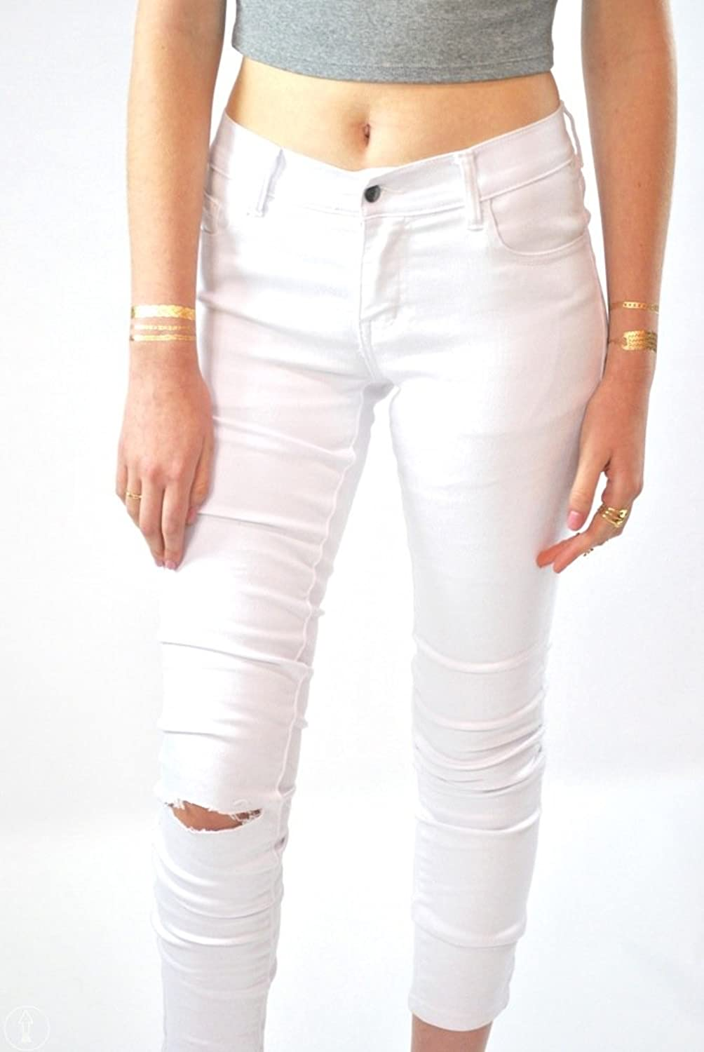 Up Above Co Denim Women White Jeans, Distressed Jeans, Ripped Jeans, Plus Size Jeans, Stretchy Skinny Jeans