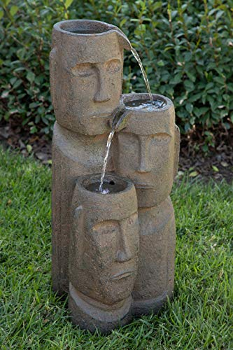 (Alpine TZL196 Tiki Trio God 2 Tiered Fountain, 28 Inch Tall,)