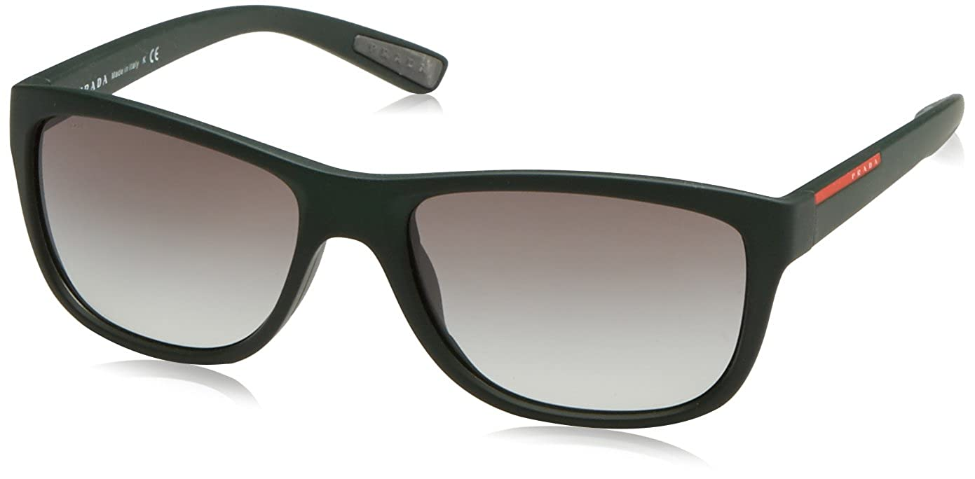 11ee90d9609 Sunglasses Prada Linea Rossa PS 5PS UAZ0A7 GREEN RUBBER at Amazon Men s  Clothing store