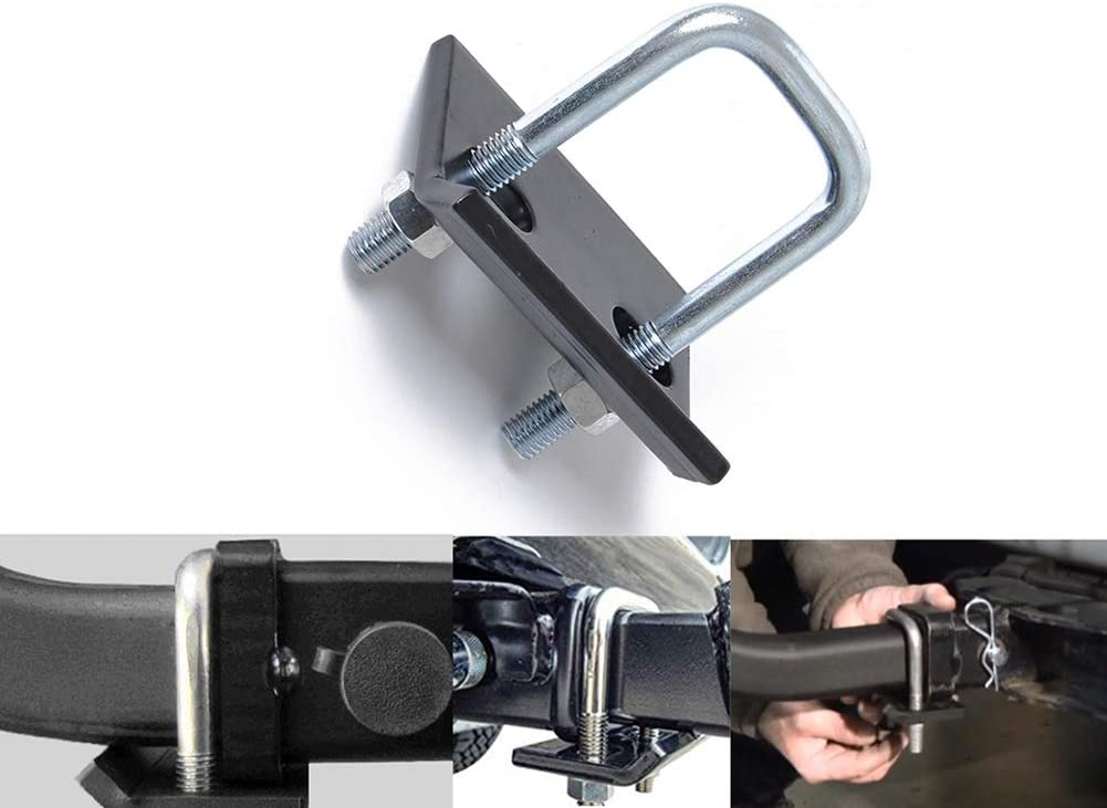 Hitch Tightener for 1.25 Inch and 2 Inch Trailer Hitches Stainless Steel Hitch Tightener Anti Rattle Hitch Stabilizer U Clamps 2 Inch Hitch Stabilizer Reduces Noise and Swaying