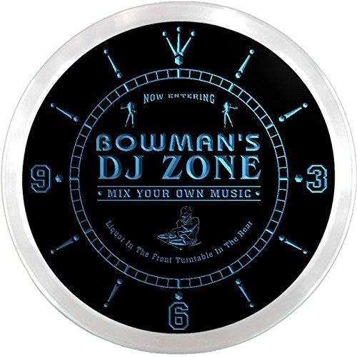 ncqh1248-b Bowman es DJ Zone de música Tocadiscos Neon reloj ...