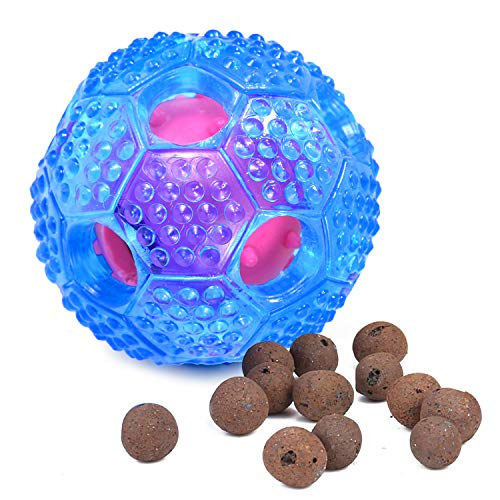 FULNEW IQ Treat Ball Interactive Dog Food Dispenser Durable Dog Chew Toy Ball for Dog Playing, Chewing, Tooth Cleaning -
