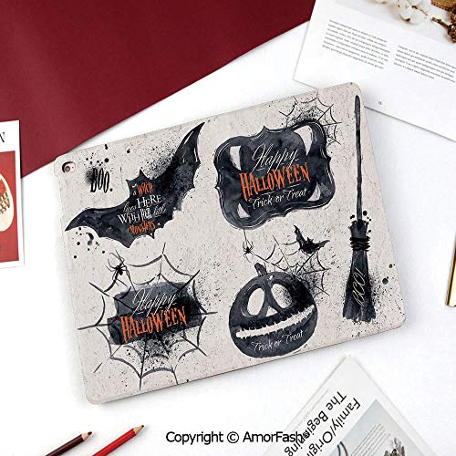 - Vintage Halloween Case for 2015 Galaxy Tab A Tablet (8.0 inch,SM-T350 T355C P350 P355C),Halloween Symbols Happy Holiday Witch Lives Here Broomstick Spider Web Decorative