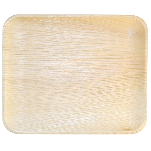 Elegant Leaf (Leaf & Fiber 25 Count, Sustainable, Elegant Fallen Palm Leaf Plates, 12.5