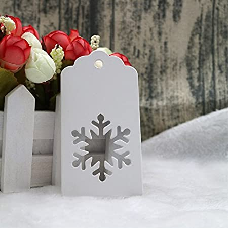 Targhette natalizie 9.5 x 5 cm Brown Snowflake jijAcraft