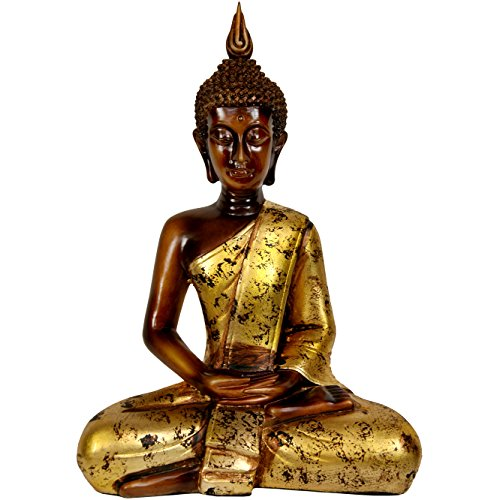 Oriental Furniture 16'' Thai Sitting Buddha Statue by ORIENTAL FURNITURE