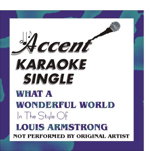 What A Wonderful World by Louis Armstrong Karaoke CD+G Single