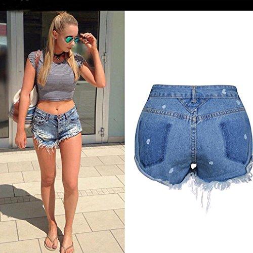 Alta Jeans Pantaloni Pants Donna Estate Hot Sexy Denim Strappato Luoluoluo Shorts In Pants A Vita qzSgAB