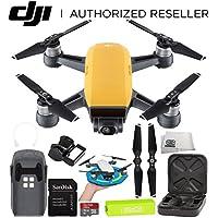 DJI Spark Portable Mini Drone Quadcopter Starter Palm Landing Pad Bundle (Sunrise Yellow)