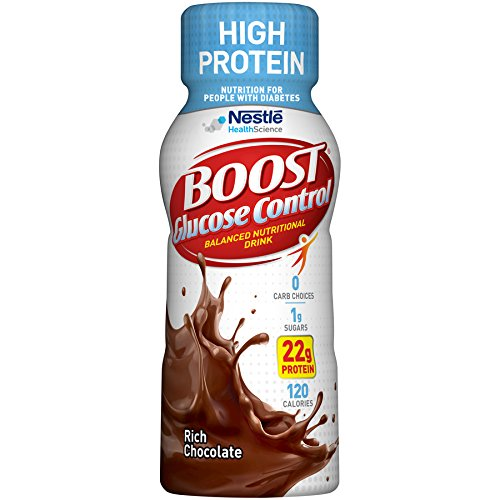 Boost Glucose Control High Protein Nutritional Drink, Rich Chocolate, 8 fl oz Bottle, 16 Pack ()