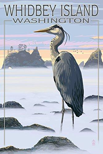 Whidbey Island, Washington - Blue Heron Gallery Quality Metal Art